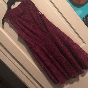 Women's short dress with straps
